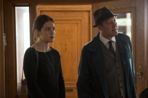 "THE BLACKLIST -- ""Dr. Linus Creel"" Episode 204 -- Pictured: (l-r) Megan Boone as Elizabeth Keen, James Spader as Red Reddington -- (Photo by: Eric Liebowitz/NBC)"